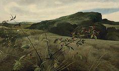 Andrew Wyeth 'Blackberry Picker' 1943, tempera on masonite | por Plum leaves