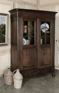 Antique Country French Vitrine / Bibliotheque | Antique Furniture | www.inessa.com  <3!