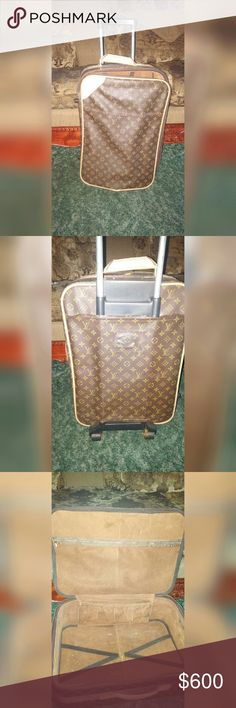 LV Print Vintage Suitcase From The 70's-80's Era. Still Has Alot Of Life Left To This Beauty. Only Flaw Shown In The Last Pic (the zipper line is broken but the pieces that go to it are included). There's No Serial Number So I Can't 100% Guarantee The Authenticity. But If Anyone Can Determine If It Is Or Not Please Feel Free To Let Me Know In The Comments. I Am Also Open To Offers. none Bags Travel Bags