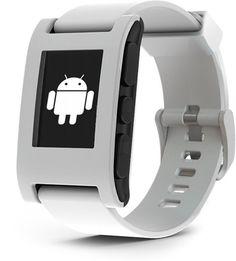 Reloj e-paper Pebble con capacidad Bluetooth que se conecta a SmartWatch iPhone y teléfonos inteligentes Android.