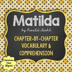 This is a 50-page student guide for Matilda by Roald Dahl. It contains chapter-by-chapter vocabulary, comprehension, and analysis. You will find that the questions are at all levels of Bloom's Taxonomy, and that many will provoke deeper thinking. You will love the student-friendly format.