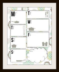 Weekly Dinner Planner Printable