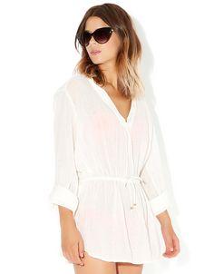Lässiges Shirtkleid | Weiß | Accessorize