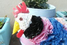 Chickens Made Out of Plastic Bags