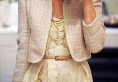 cream flora & tan tweed