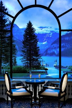 "Inside Fairmont Chateau Lake Louise / Canada: ""Majestic view of Lake Louise in Banff National Park, in Alberta, Canada. Parc National De Banff, National Parks, Dream Vacations, Vacation Spots, The Places Youll Go, Places To Go, Beautiful World, Beautiful Places, Fairmont Chateau Lake Louise"