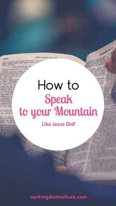 Jesus said in this world we will have tribulations (problems). So, when he told us to speak to the mountains He gave us a way to overcome those tribulations.#encouragment, #faith, #christianliving Encouraging Bible Verses, Bible Encouragement, Christian Encouragement, Christian Living, Christian Faith, Power Of The Tongue, Revelation 12, Isaiah 54, Names Of Jesus Christ