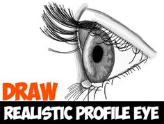 We showed you how to draw the eye from the front, and now we are going to show you how to draw a realistic looking eye from the side/profile view. We have broken this tutorial down into 22 steps, so I think you will be able to go through it and learn how to draw an eye, even if it takes you a few times.