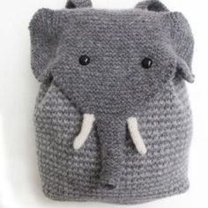 Baby Knitting Patterns Yarn This most adorable elephant backpack is knitted. You can see him at morehous … Knitting Kits, Knitting For Kids, Knitting Projects, Baby Knitting, Crochet Projects, Knitting Patterns, Crochet Patterns, Diy Projects, Knitting Supplies