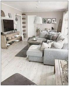 Amazing Small Apartment Living Room 50 - Galoresolution Inc Living Room Grey, Home Living Room, Interior Design Living Room, Living Room Designs, Kitchen Interior, Living Room With Sectional, Grey Living Room Furniture, Grey Sectional, Interior Livingroom