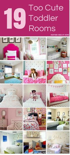 So many great ideas for decorating a toddler's room