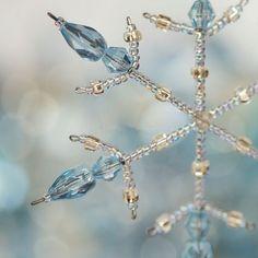 beaded snowflake ❤