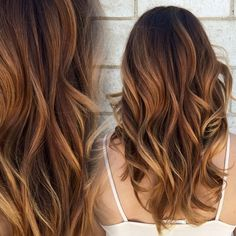 Instagram media by harttofcolor - Gorgeous warm balayage. So natural and pretty…