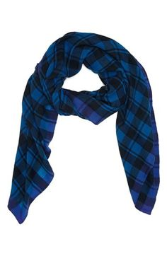 $119, Blue Plaid Scarf: Marc by Marc Jacobs Plaid Scarf. Sold by Nordstrom. Click for more info: https://lookastic.com/women/shop_items/132038/redirect