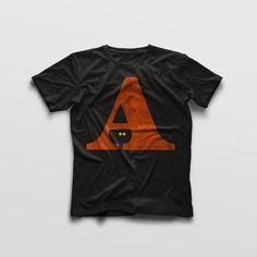 Typefaces Letterpress T-shirt Witch