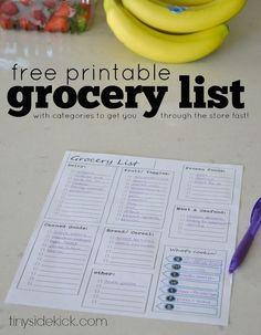 Free Printable Groce