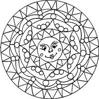 Sun mandala    (could leave out some elements to make it an easier pattern to mosaic)