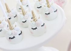 Unicorn cake pops by Wish Upon a Cupcake