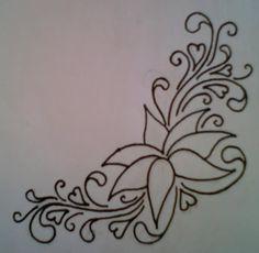 Flower Tattoo Design by average-sensation on DeviantArt Tattoo Stencil Designs, Flower Tattoo Stencils, Flower Tattoo Designs, Drawing Techniques, Tribal Tattoos, Embroidery Stitches, Tatting, Mandala, Deviantart