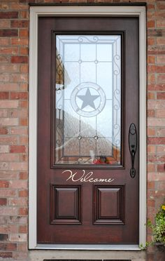 our Texas front door- Welcome!