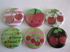 Cherry Magnet Set / 153 by Getagripmagnets on Etsy, $7.50