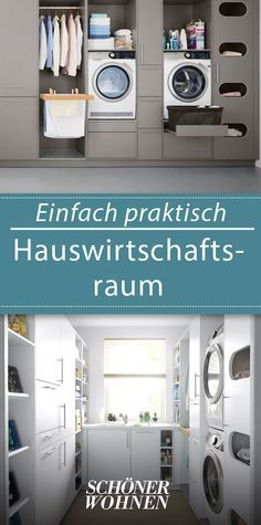 Hauswirtschaftsraum: Möbel und Ideen zum Einrichten Living space is becoming scarcer. The good news: a utility room d Room Interior, Interior Design Living Room, Living Room Designs, Living Spaces, Marquise, Laundry Room Design, Home And Living, New Homes, House Design