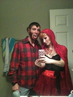 little red riding hood and the big bad wolf  sc 1 st  Pinterest & Little Red Riding Hood u0026 the Big Bad Wolf Costume . | Projects to ...