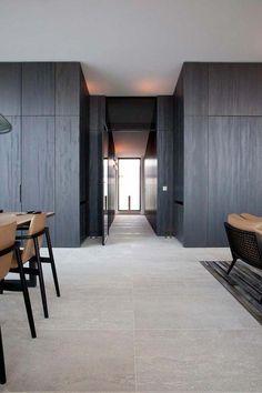 Take a look at this magnificent Jarrah flooring - what an artistic concept Interior Walls, Interior And Exterior, Küchen Design, House Design, Casa Milano, Travertine Floors, Natural Stone Flooring, Interior Decorating, Interior Design