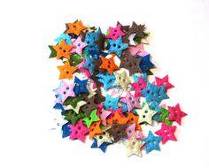 """1""""  Multi Colors Felt Star Shapes _ QTY 100"""