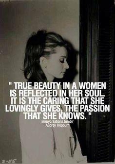 Audrey Hepburn on 'true beauty'