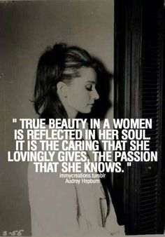 Audrey Hepburn on 'true beauty'