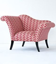 Love the shape of this - Classic Chaise Chair from Bo & Jangles Ltd, England.