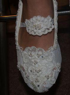 Zapatos Novias sin tacon estilo Maria Antoinette con por NewBrideCo