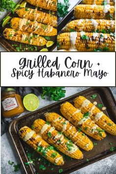 Grilled Corn with Spicy Habanero Honey Mayo is a quick summertime side that's perfect for any cook-out. It can be made on a grill or grill pan. #grilledcorn #habanerohoney #naturacentric #corn #summerfood #summerrecipes #veganrecipes #honeyrecipes #spicymayo Easy Summer Meals, Summer Recipes, Dairy Free Mexican Recipes, Hiking Food, Summer Side Dishes, Honey Recipes, Picnic Foods, Barbecue Recipes, Savoury Dishes