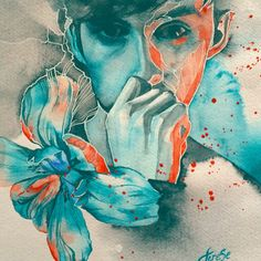 Papercut - Zedd ft. Troye Sivan inspired painting it is beautiful such talent
