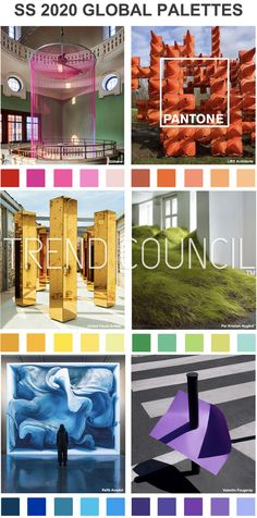 SS 2020 Colour palettes - 2020 Fashions Woman's and Man's Trends 2020 Jewelry trends Colour Schemes, Color Trends, Design Trends, Colour Palettes, Fashion Show Themes, Pantone 2020, Trend Council, Spring Fashion Trends, Spring Trends