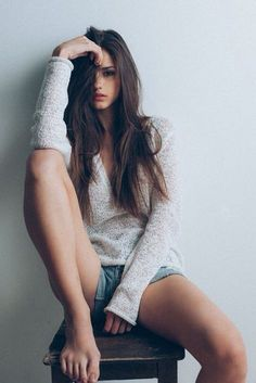 Long sleeve knitwear with jeans shorts . - Long sleeve knit top with jeans shorts – …, - Model Poses Photography, Photography Women, Lifestyle Photography, Hair Photography, Photography Backdrops, Summer Photography, Tumblr Girl Photography, Dreamy Photography, Photography Backgrounds