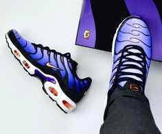 Nike Air Max Plus OG Black / Orange / Purple - dragonball. Nike Air Max Plus, Nike Air Max Tn, Tn Nike, Nike Air Vapormax, New Sneakers, Air Max Sneakers, Sneakers Fashion, Sneakers Nike, Sneakers Style