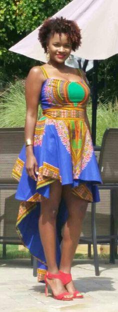 Dashiki Highlow Dress