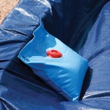 Doheny's Pool Supplies Fast's water bags secure your above ground pool's winter cover.  Find all of your winterizing needs and pool chemicals at www.doheny.com