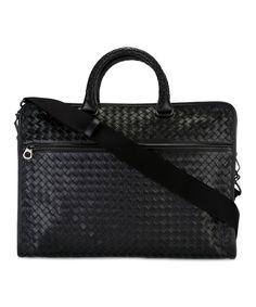 BOTTEGA VENETA Bottega Veneta Men'S  Black Leather Briefcase'. #bottegaveneta #bags #shoulder bags #hand bags #leather #