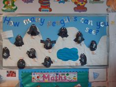 Count Penguins Display, classroom display, class display, numeracy, maths, math, numbers, counting, animal, Early Years (EYFS), KS1 & KS2 Primary Resources
