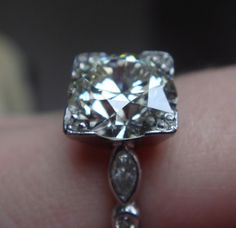 Vintage Diamond Ring. This is so perfect. Words can not express. I would be speechless.