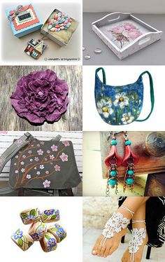 Spring by Milana Latinovic on Etsy--Pinned with TreasuryPin.com #gifts #handmade #treasury #shopsmallbiz #sales #love #uniquegifts #jewelry #earrings #polymerclay #teal #copper #dangle #spring #trends #beautiful #unique
