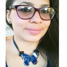 Collar de Mariposas azul