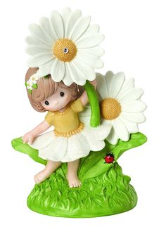 """Precious Moments, Easter Gifts, """"You Make Everyday Brighter"""" Bisque Porcelain Figurine, #154003"""