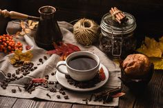 Autumn Leaves with Cup of Coffee and Muffin. by Vsevolod Belousov on 500px