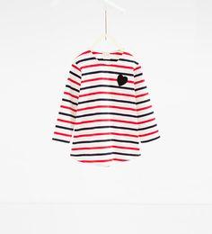 ZARA - NIÑOS - Camiseta rayas muñecas