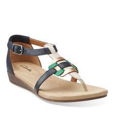 Look at this #zulilyfind! Navy Qwin Adonia Leather Sandal #zulilyfinds $42.99, regular 80.00
