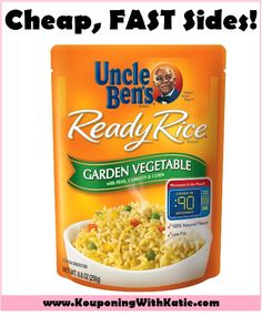 Stock Up On Quick & Easy Uncle Ben's Ready Rice Sides For Just $1.25 At Target!!! This is a great sale for you! I LOVE having these super easy, super FAST side items in my pantry; they are perfect for nights when cooking seems so out of reach. http://www.kouponingwithkatie.com/2017/09/21/stock-up-on-quick-easy-uncle-bens-ready-rice-sides-for-just-1-25-at-target/
